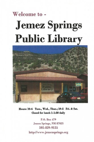 Front cover of pamphlet.