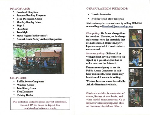 Mid section of pamphlet.