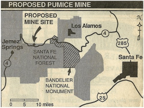 Map provided by Carol Cooperrider/Albuquerque Journal