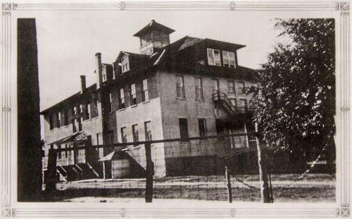 Original Franciscan Convent School,1920. Photo Courtesy of Esther May: Cuba Oral History Project. Used with permission from files of Sandoval County Historical Society.